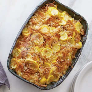 Favorite Thanksgiving Sides - Recipe for Squash Casserole found on Southern Living