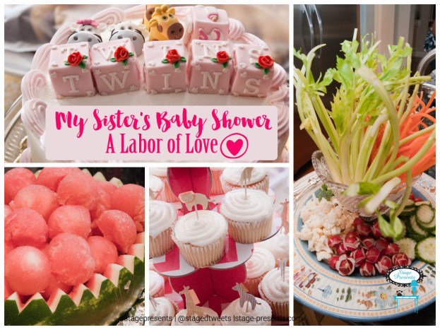 My Sister's Pink and Green Noah's Ark Baby Shower for Twins