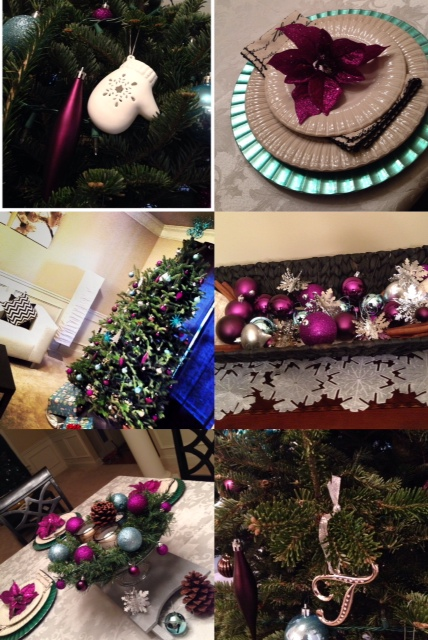 Our 2013 Christmas Home Tour- Teal Purple and Silver Color Scheme