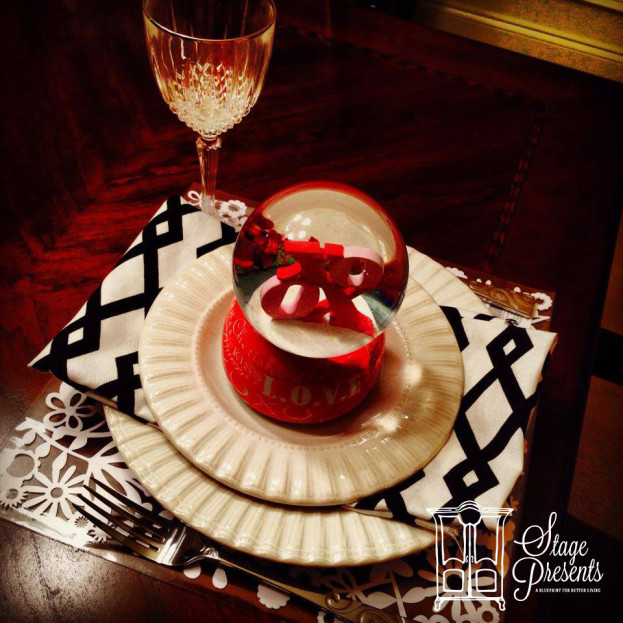 Easy Tablesetting for Valentine's Day (with things you have at home)
