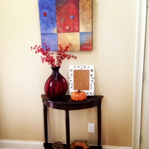 Fall 2013 Foyer Decor