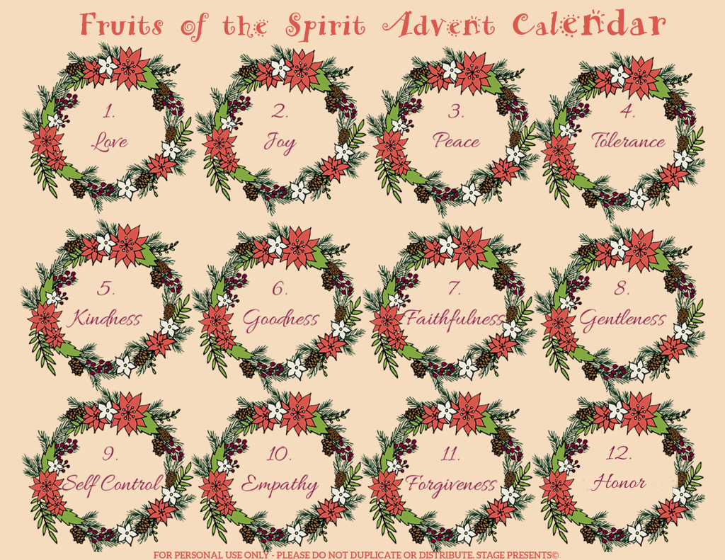 Fruit of the Spirit Advent Calendar