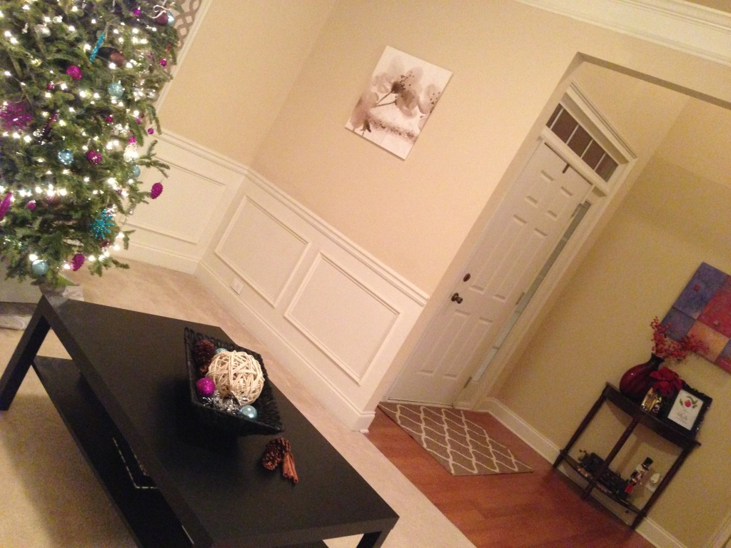 2014 Christmas Tour - Formal Living Room - Decorator Tree & Front Door Area