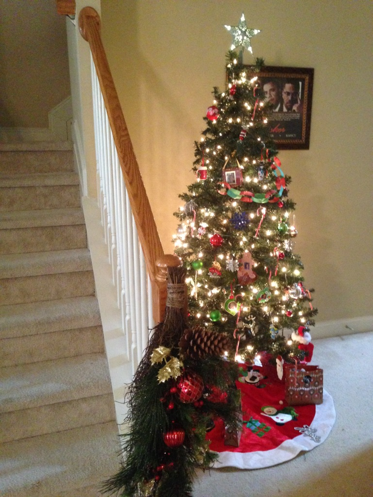 Kid's Tree - Decorated with Kid's Handmade Ornaments