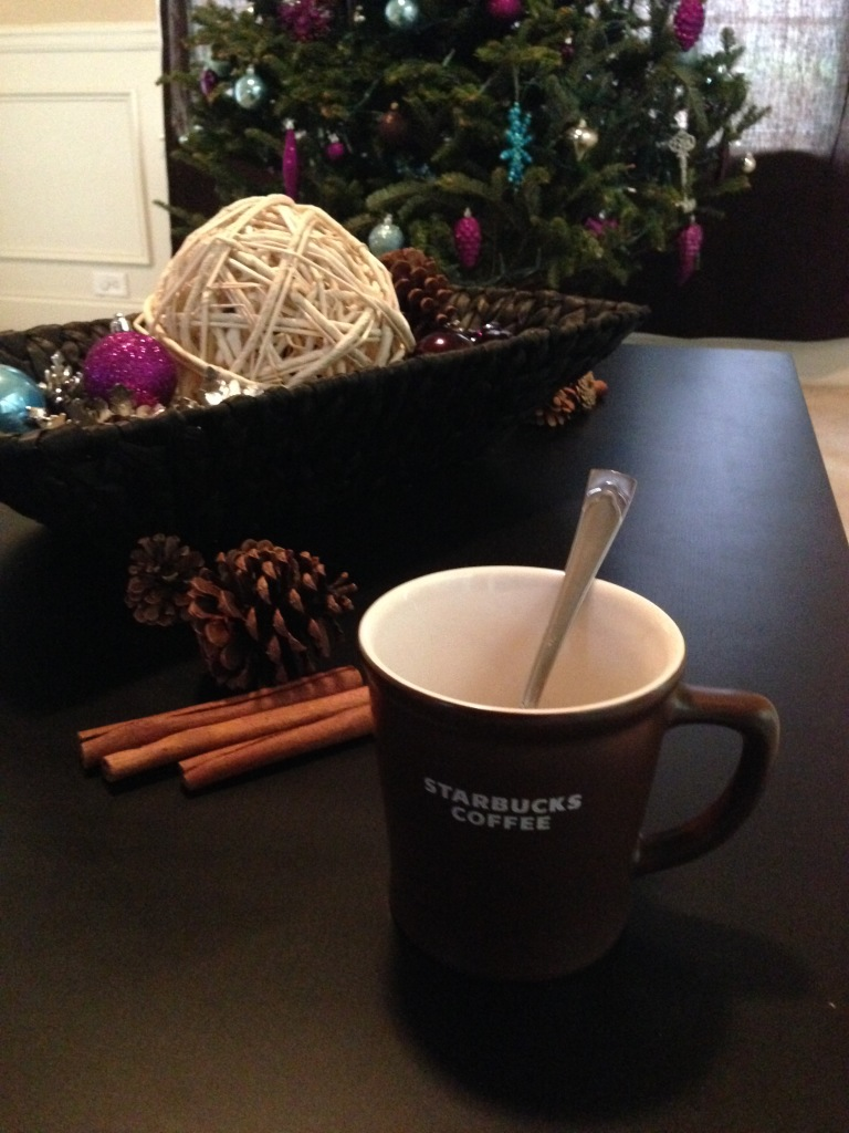 Coffee In Front of The Tree - 2014 Christmas Home Tour