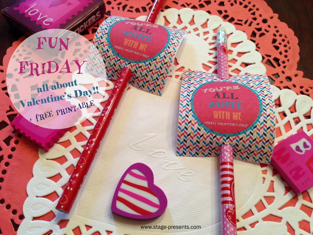 Free Valentine's Day Pencil Tag #valentinesday #valentinesdaygift #valentinesdayideas