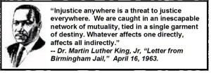 Martin Luther King Junior Quote - Letter from Birmingham Jail