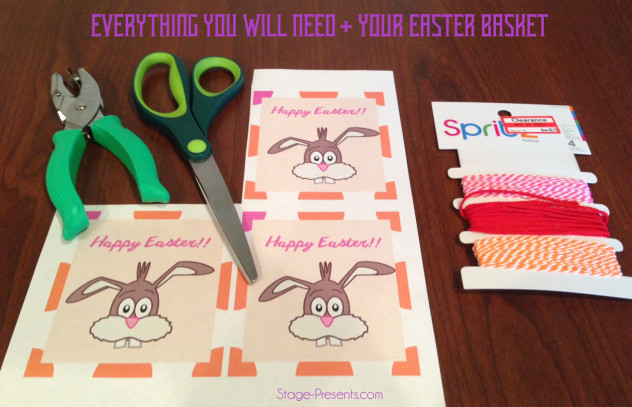 Easter Basket Tag Supplies