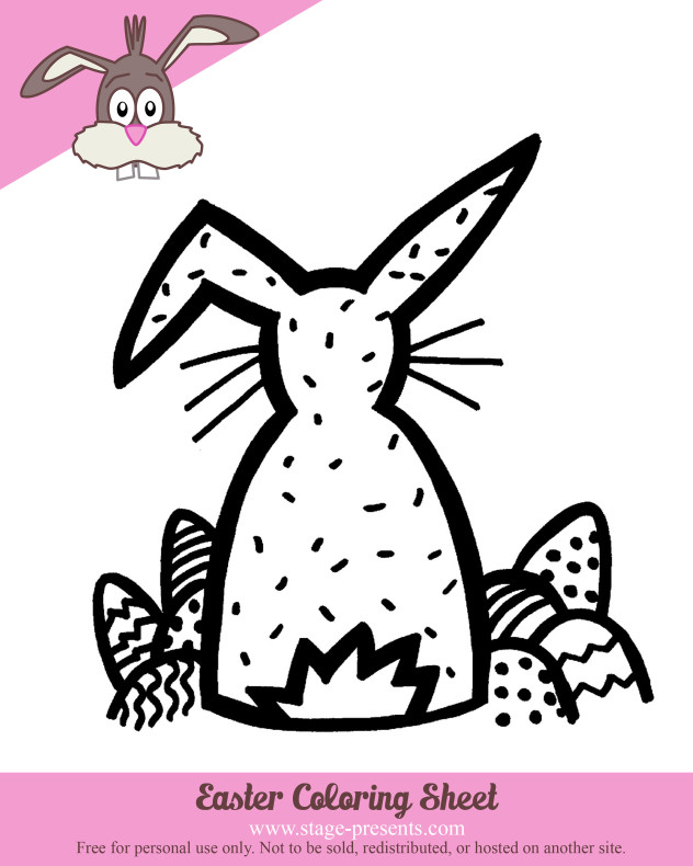 Easter Coloring Sheet 1