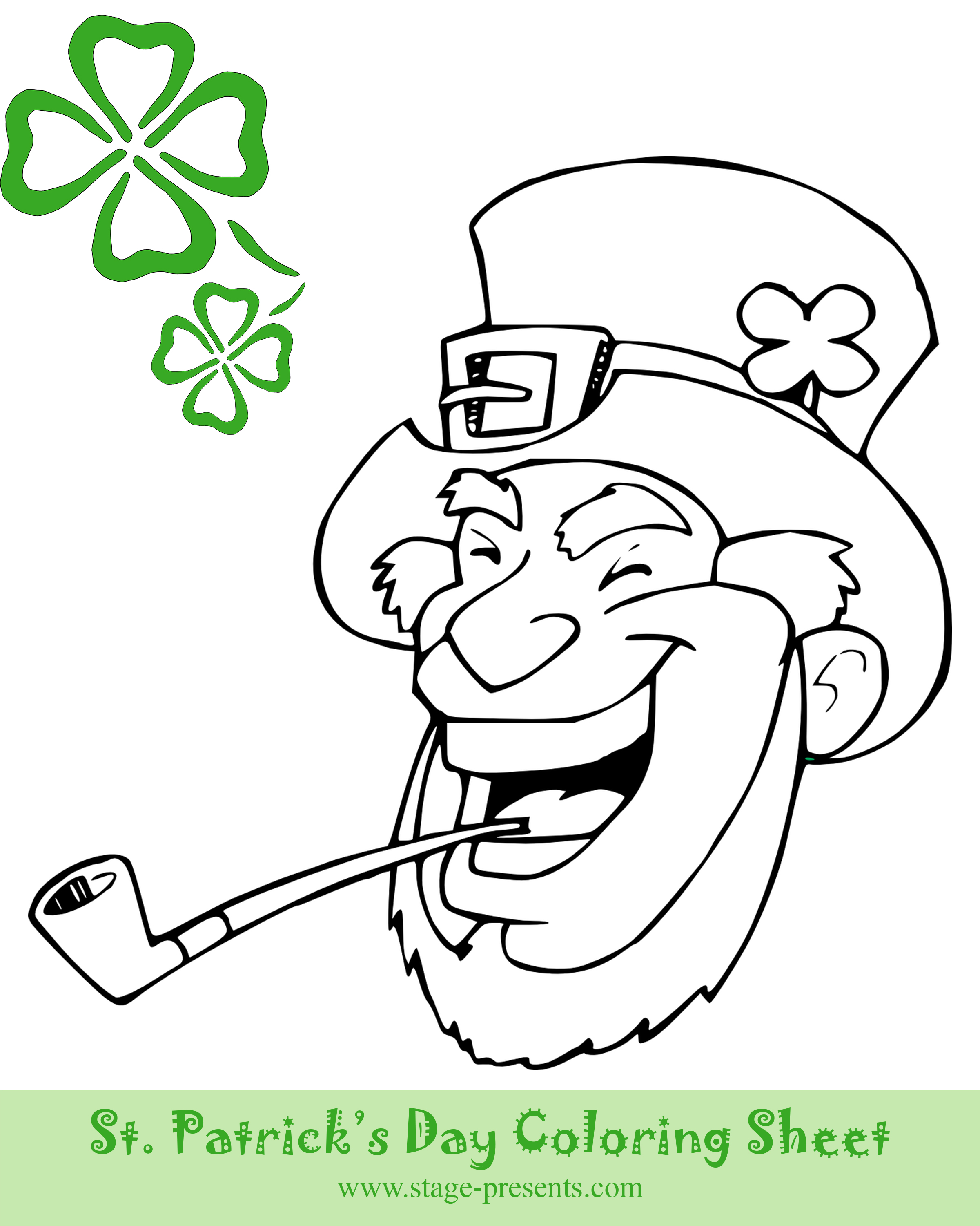 Two Free St. Patrick\'s Day Coloring Sheets - Stage Presents