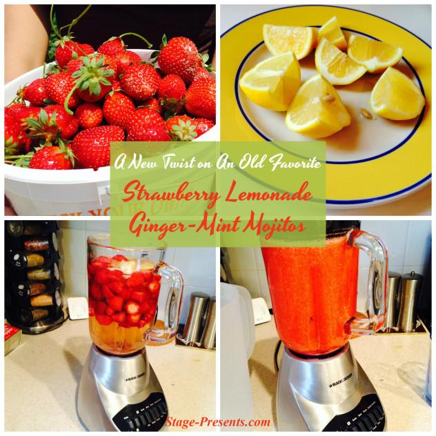 Strawberry Lemonade Ginger Mint Mojito