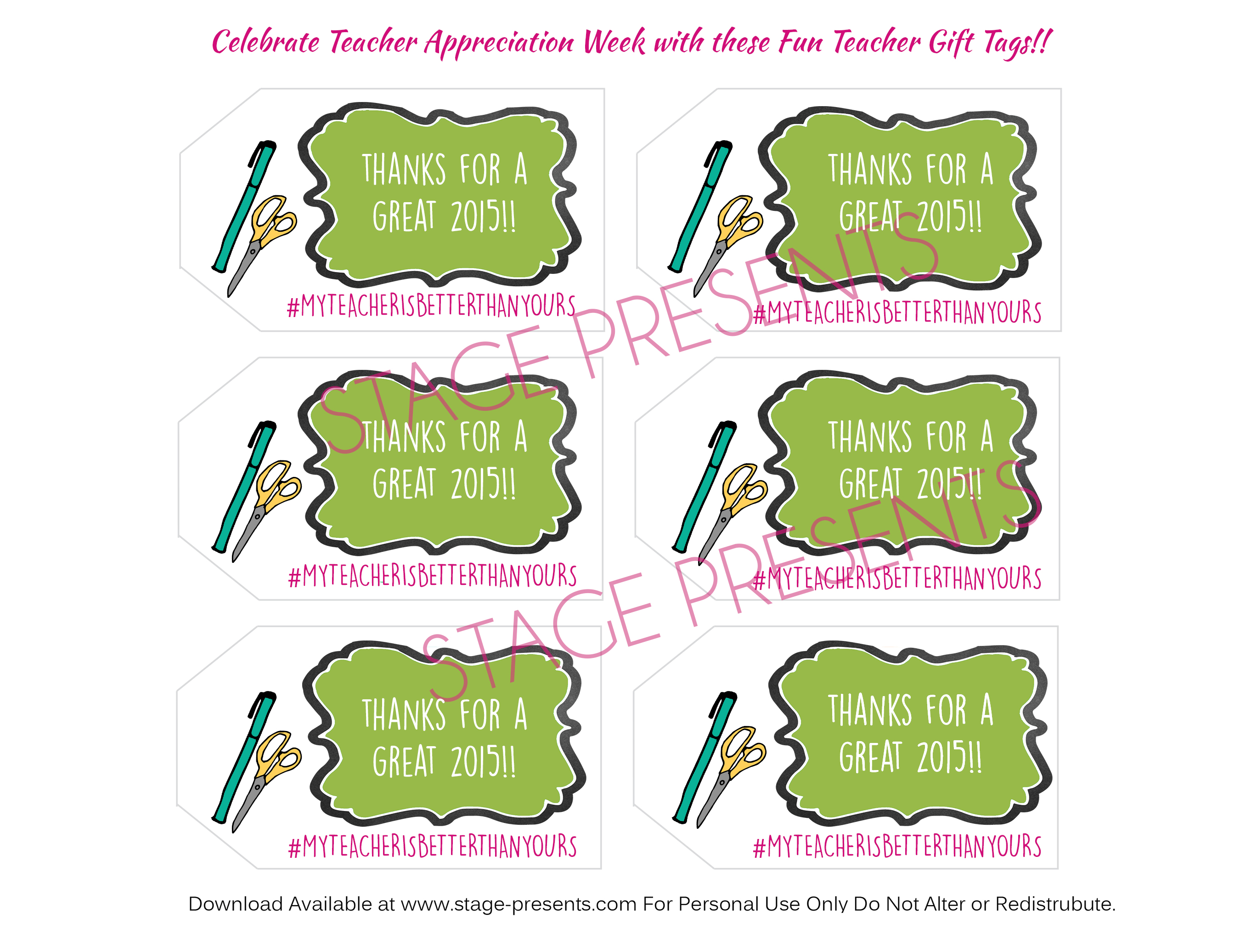 ... Devoted Teachers + Free Printable Teacher Gift Tags - Stage Presents