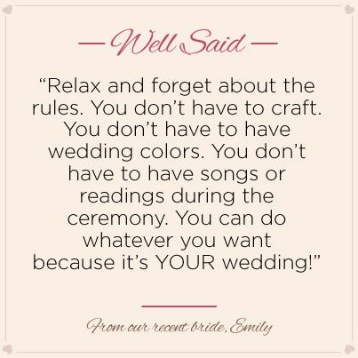 Quote on Wedding Planning