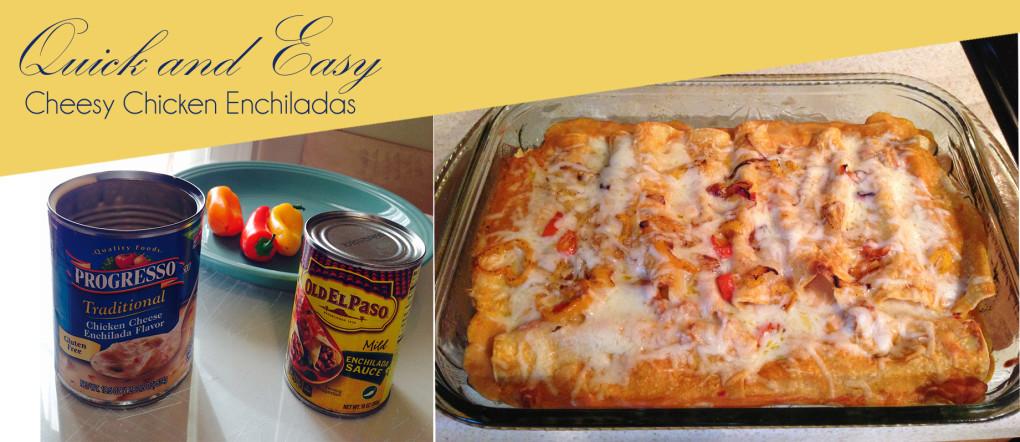 Cinco de Mayo Quick and Easy Cheesy Chicken Enchiladas - stage-presents.com