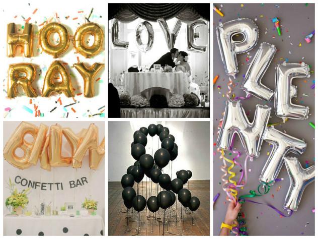 Word Letter Balloons