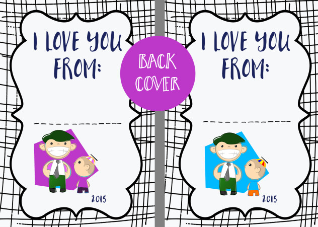 Father's Day Coupon Book Back Mockup