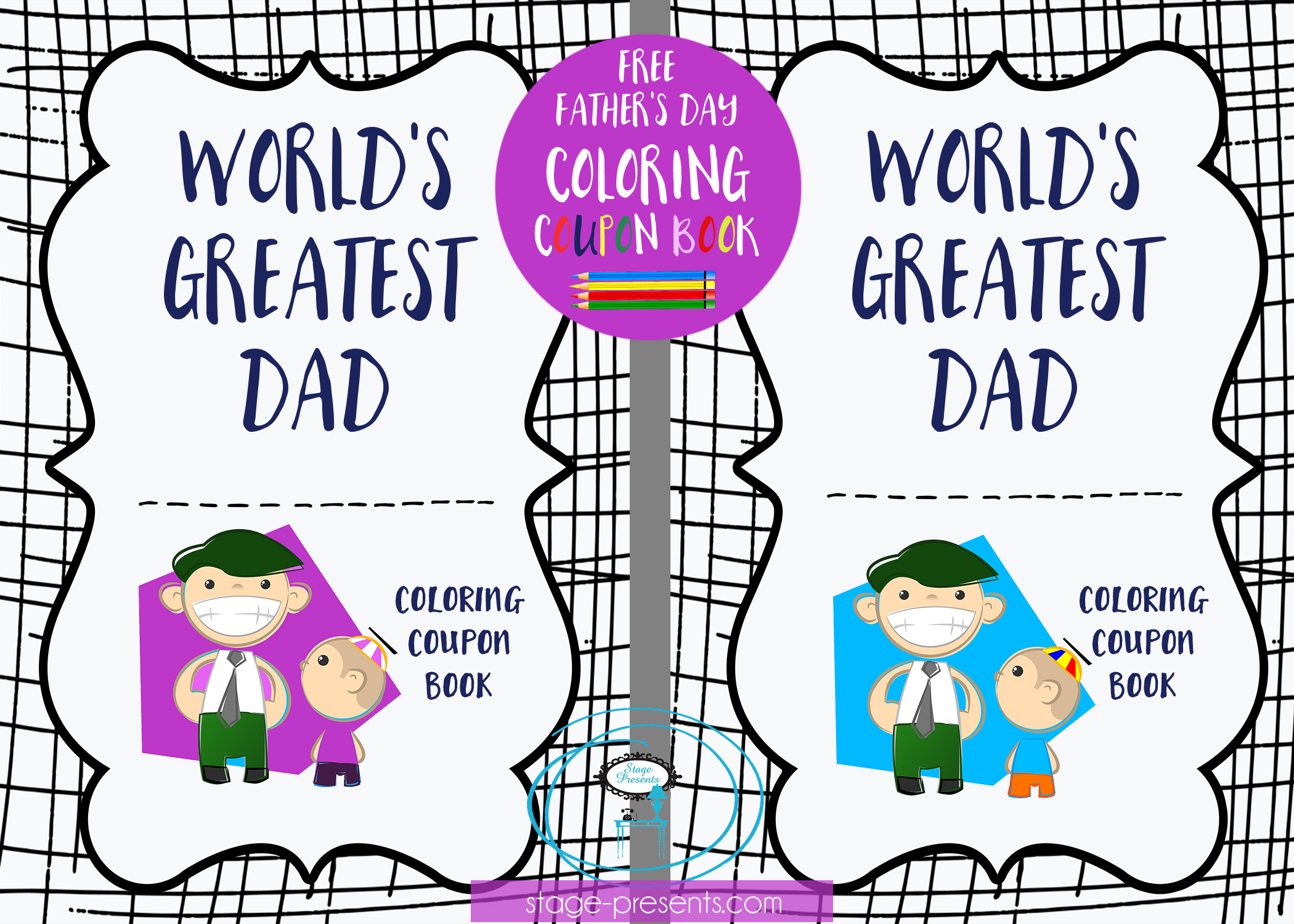 celebrate dad with this free father u0027s day coloring coupon book