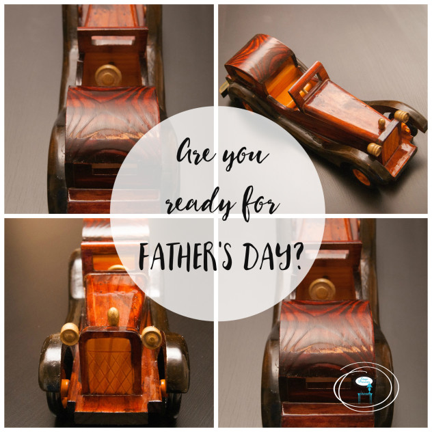 Vintage Wooden Toy Car - fathers day blog
