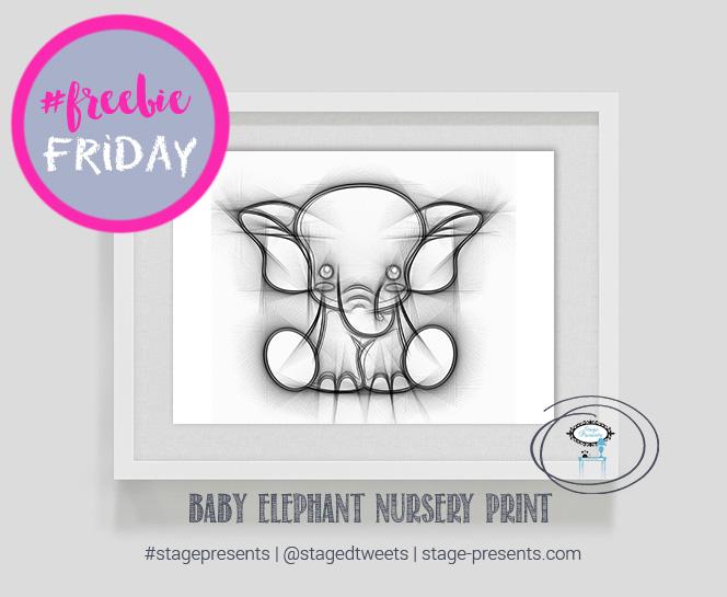 Free Friday Baby Elephant Printable