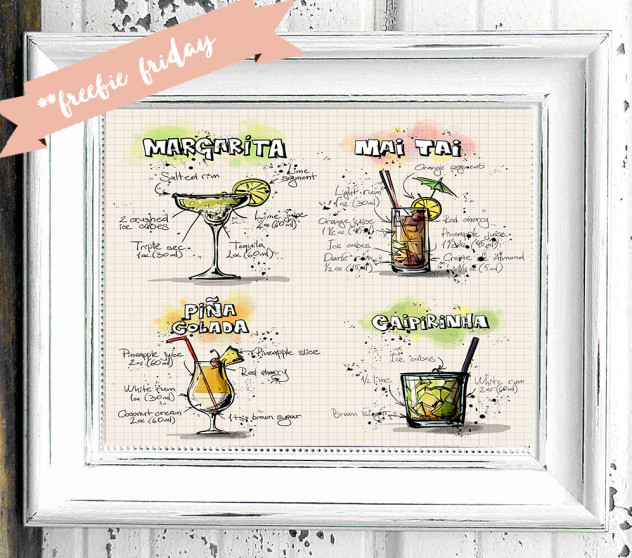 Freebie Friday - Printable Drink Card