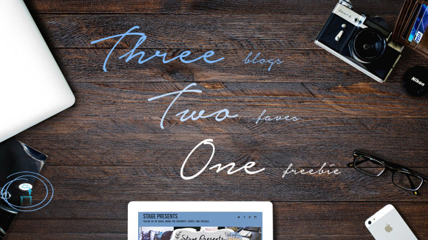 Three... Two.. One... A Friday Series - Three Blogs Two Faves.. One Freebie