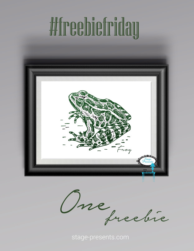 Freebie Friday Frog - #freebiefriday #freedownload