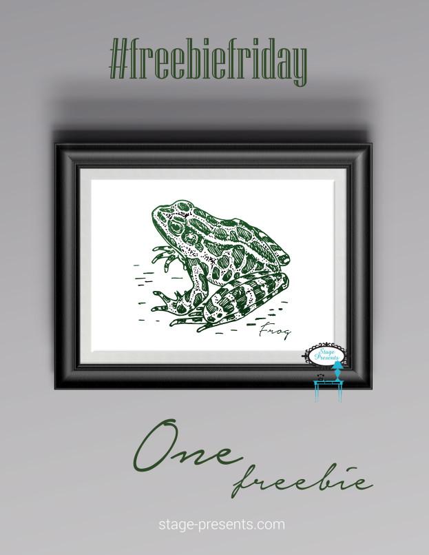 Freebie Friday Frog - #freebiefriday #freedownload