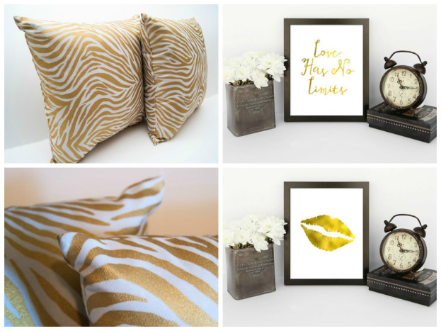 Decorating with Gold Accessories from Our Etsy Store