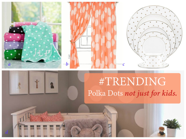Decorating With Polka Dots - Polka Dot Trend - www.stage-presents.com #dorm decor #apartment decor #home decor