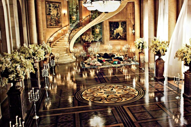 Decorating With Gold - great gatsby movie set design - jay gatsby mansion ballroom