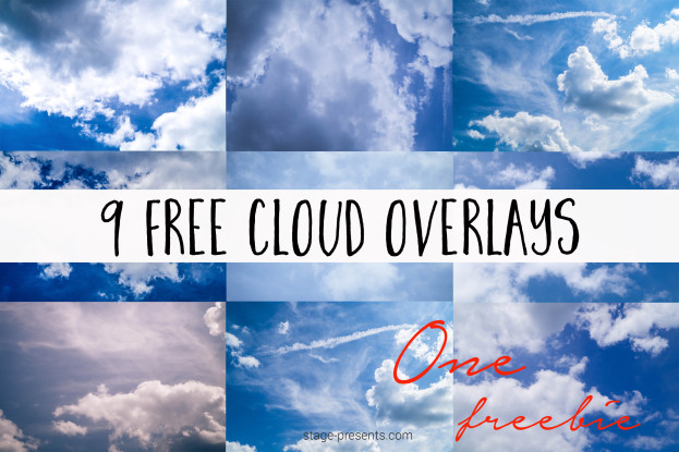 FreebieFriday9415 - 9 Free Cloud Overlays found originally on stage-presents.com