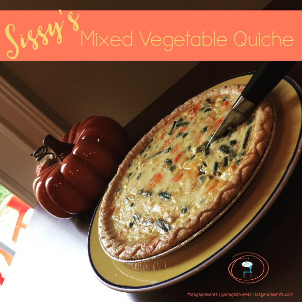 Super Easy Recipe for Mixed Vegetable Quiche found originally on stage-presents.com