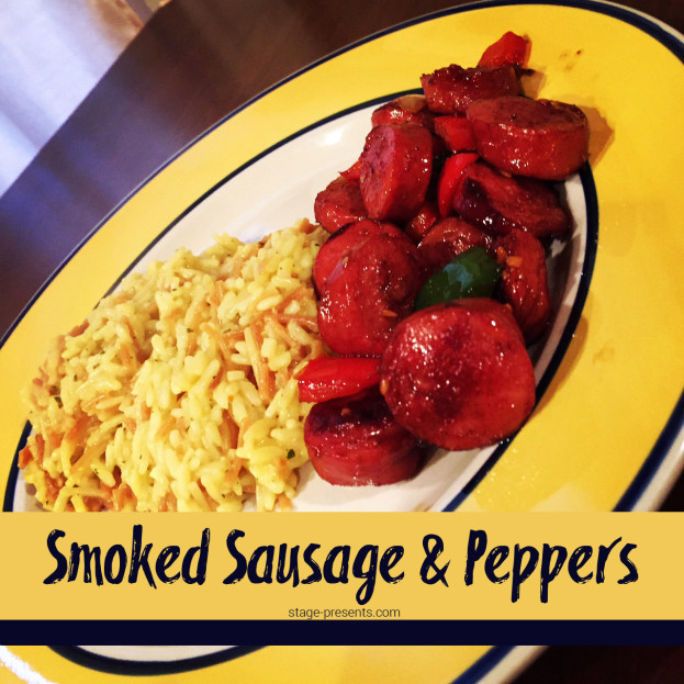 A New Family Favorite - Smoked Sausage and Peppers