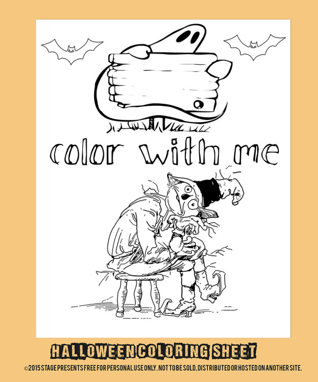 Halloween Coloring Sheet Mockup medium