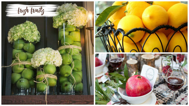 Decorating with Natural Elements Fresh Fruit
