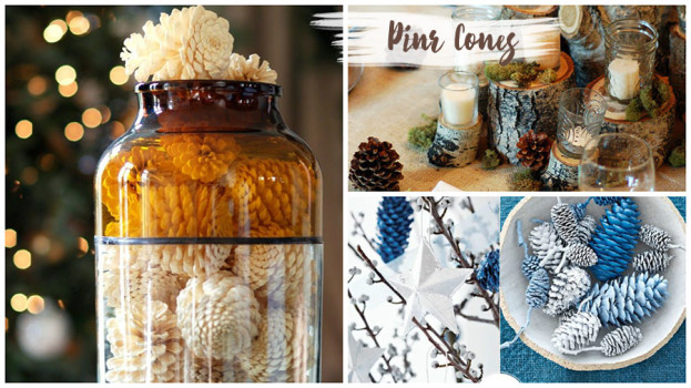 Decorating with Natural Elements Pine Cones