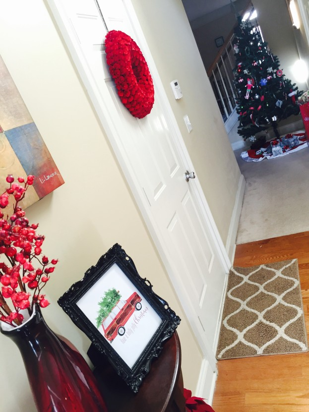 Christmas Home Tour 2015 |Front Hallway | Stage Presents | DIY Ideas and Christmas Decor
