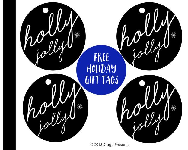 Holly Jolly Holiday Gift Tags