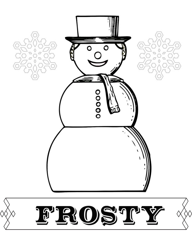 Frosty Coloring Sheet - Free Download stage-presents.com