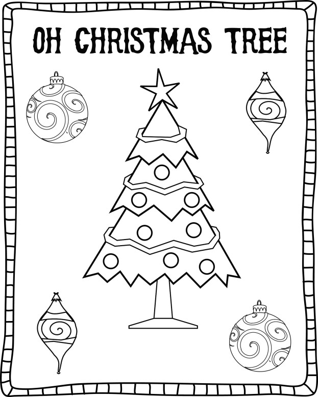 Oh Christmas Tree Coloring Sheet - Free Download stage-presents.com