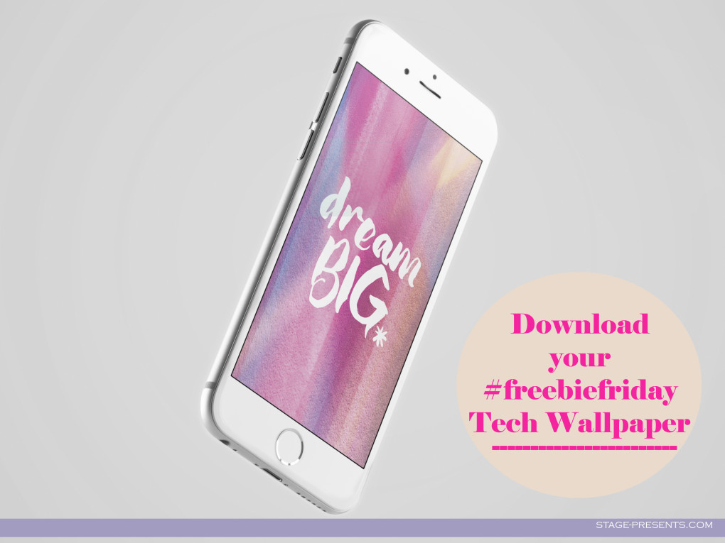 Freebie Friday Tech Wallpaper - ©2016 Stage Presents