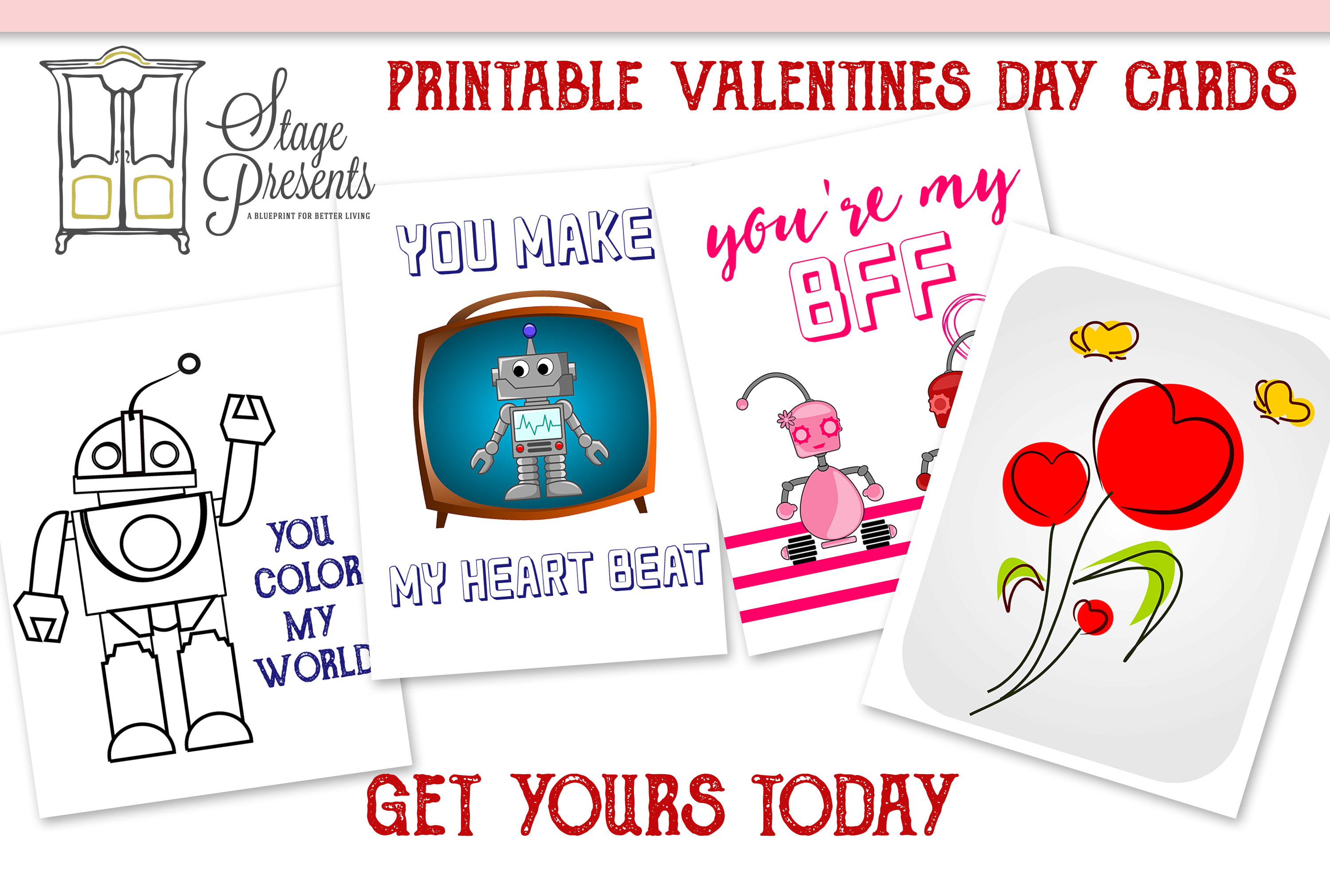 Free Printable Valentines Day Cards 2016 stage-presents.com