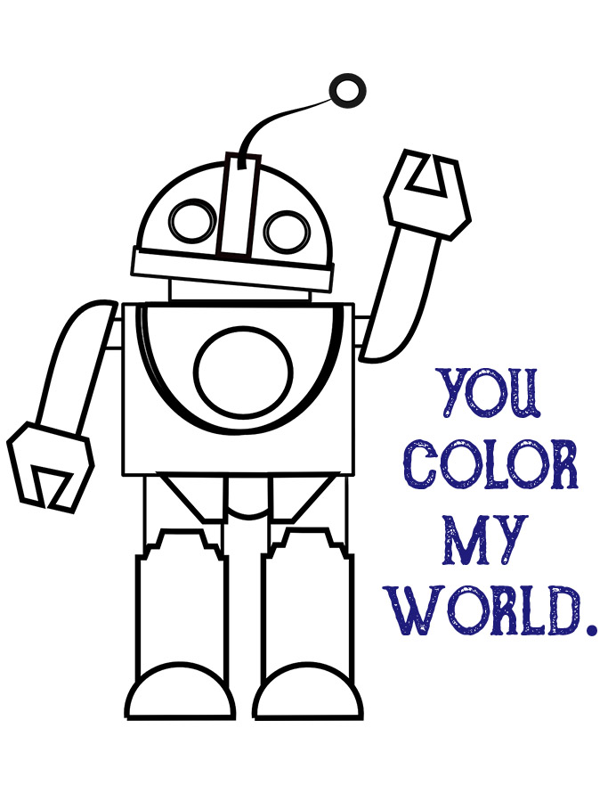 photograph about You Color My World Printable called Valentines Working day For Children Archives - Position Provides