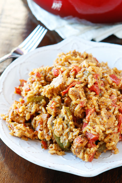 Mardi Gras Round-Up Cajun Chicken and Rice Jambalaya Recipe Kevin and Amanda