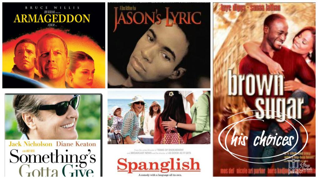 His Romantic Movie Choices - 10 Favorite Romantic Movies