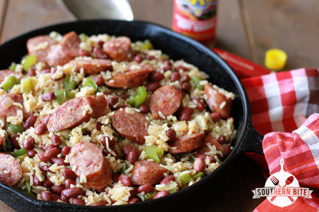 Mardi Gras Round-Up One Pot Red Beans and Rice Southern Bite