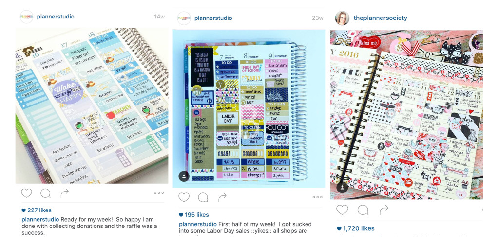Planning Your Own Way Planner Sticker Views - Instagram Pages