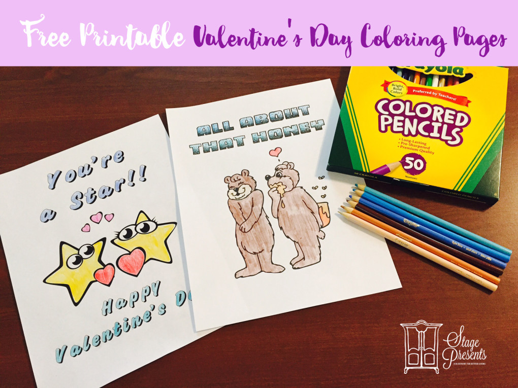 Valentines Day Coloring Sheet Mockups