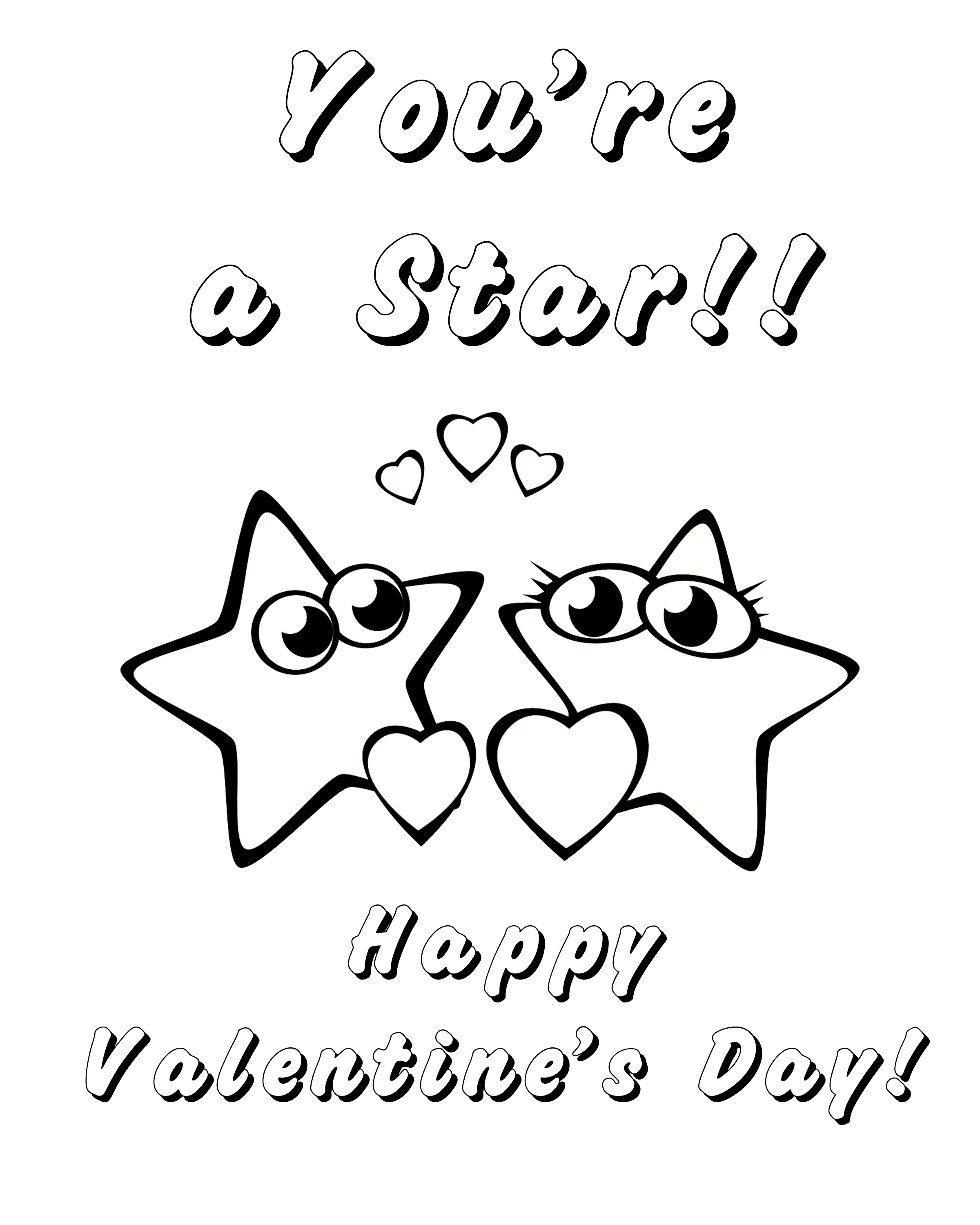 Free Printable Valentine s Day Coloring Pages for Kids Stage