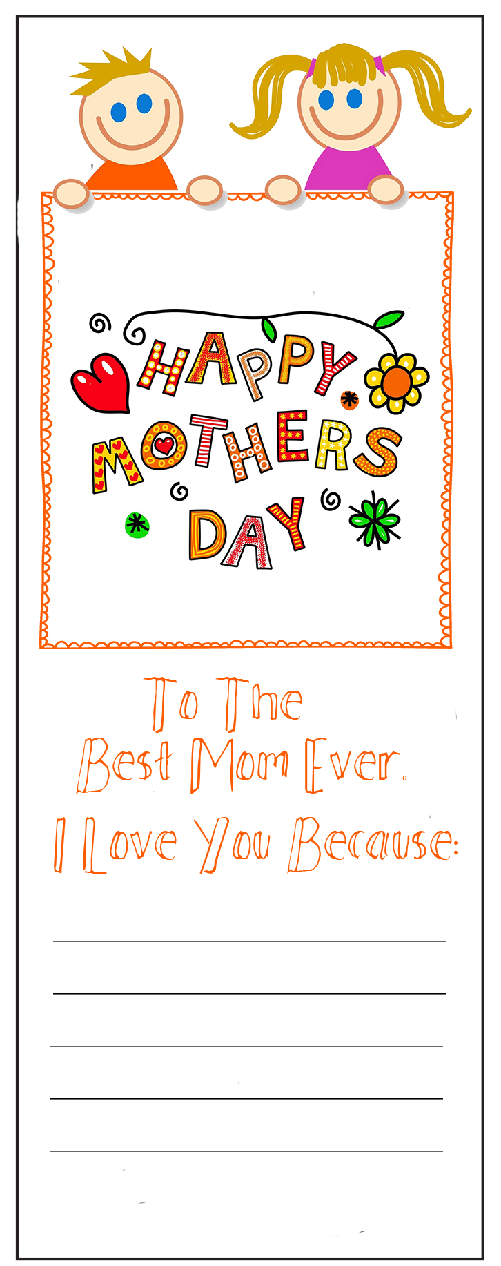 Mother's Day Bookmarks - Freebie - Print - Personalize ...